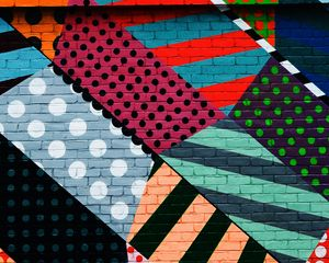 Preview wallpaper graffiti, wall, colorful, multicolored, abstract