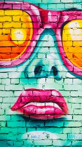 Preview wallpaper graffiti, wall, girl, art