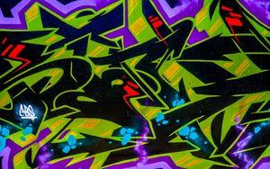 Preview wallpaper graffiti, wall, inscription, street art