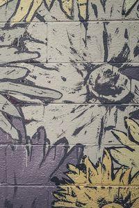 Preview wallpaper graffiti, wall, paint, flowers, art