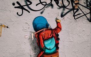 Preview wallpaper graffiti, wall, street art, art