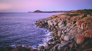Preview wallpaper granite island, australia, rocks, beach