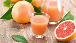 Preview wallpaper grapefruit, juice, fruit, citrus