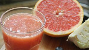 Preview wallpaper grapefruit, juice, smoothie, fruit, fresh, glass