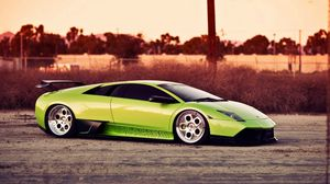 Preview wallpaper green, cars, style, lamborghini, sports