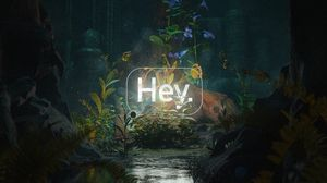 Preview wallpaper greeting, word, neon, light, cave, flowers
