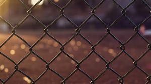 Preview wallpaper grid, fence, glare, blur, light