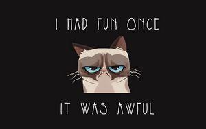 Preview wallpaper grumpy cat, cat, funny, sadness, grief