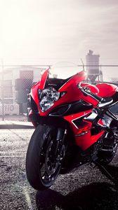 Preview wallpaper gsx-r, suzuki, motorcycle, red, 1000