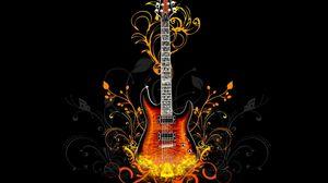 Preview wallpaper guitar, fire, light
