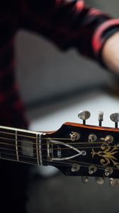 Preview wallpaper guitar, fretboard, tuners, tuning, music