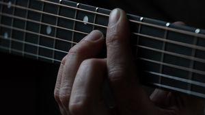 Preview wallpaper guitar, strings, fingers