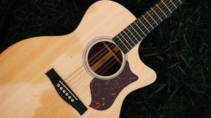 Preview wallpaper guitar, strings, musical instrument, wooden