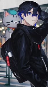 Preview wallpaper guy, cat, toy, cute, anime, art