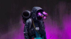 Preview wallpaper guy, cyborg, mask, art