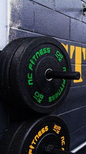 Preview wallpaper gym, weightlifting, disks