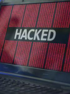 Preview wallpaper hacker, word, laptop, matrix