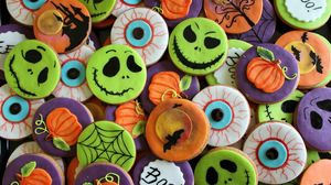 Preview wallpaper halloween, cookies, holiday, background