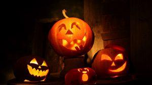 Preview wallpaper halloween, holiday, pumpkin, fear, night