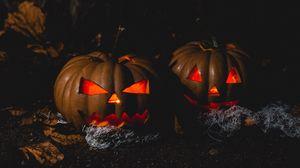 Preview wallpaper halloween, pumpkin, dark