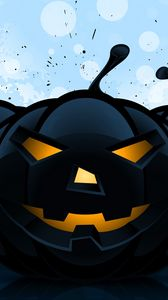 Preview wallpaper halloween, pumpkin, pattern, dark