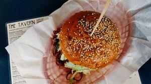 Preview wallpaper hamburger, sesame, buns, appetizing