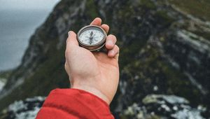 Preview wallpaper hand, compass, travel, nature