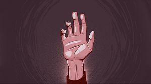 Preview wallpaper hand, palm, fingers, bent, raised, art