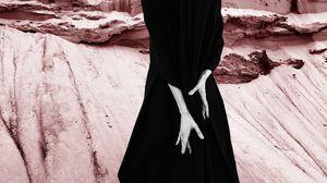 Preview wallpaper hands, dress, minimalism, girl