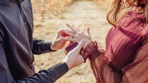 Preview wallpaper hands, ring, bride, couple, love, romance