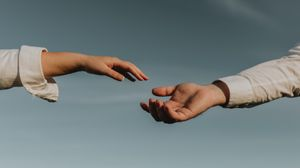 Preview wallpaper hands, touch, couple