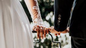 Preview wallpaper hands, wedding, love, groom, bride