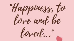 Preview wallpaper happiness, love, feelings, quote, phrase