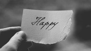 Preview wallpaper happiness, sign, bw