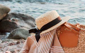 Preview wallpaper hat, bag, magazine, fabric, beach