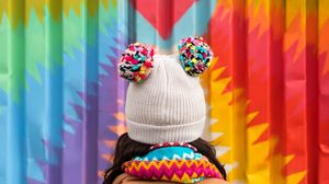 Preview wallpaper hat, colorful, heart, wall