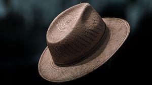 Preview wallpaper hat, straw, dark