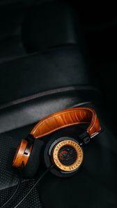 Preview wallpaper headphones, audio, music, sound, dark
