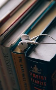Preview wallpaper headphones, books, education