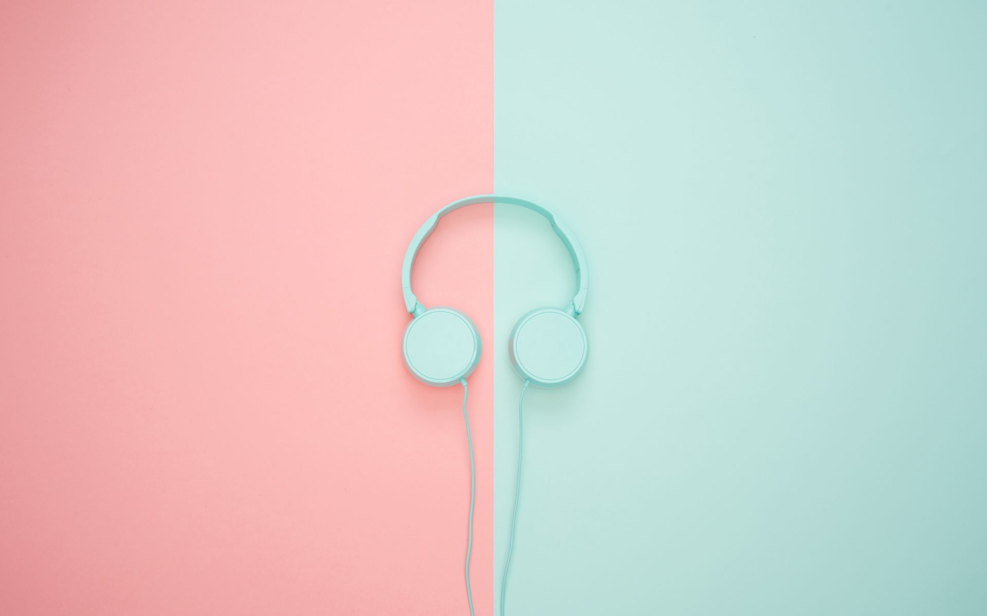 1920x1200 Wallpaper headphones, minimalism, pastel, pink