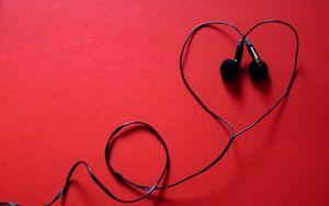 Preview wallpaper headphones, music, heart, headset