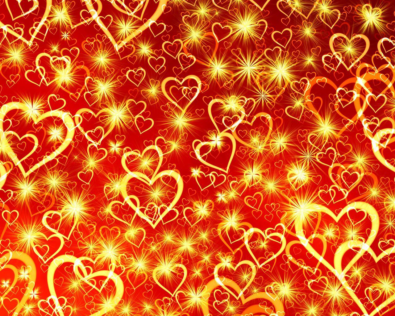 1280x1024 Wallpaper heart, art, shine