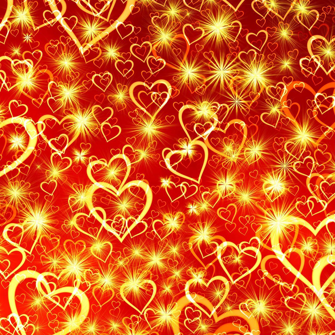 1280x1280 Wallpaper heart, art, shine