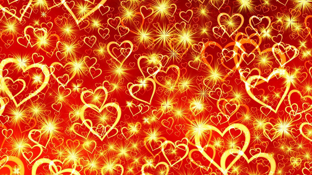 1280x720 Wallpaper heart, art, shine