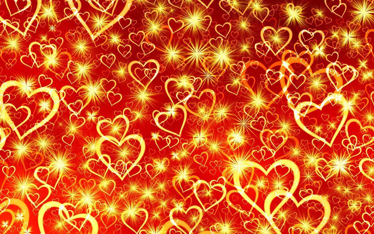 1280x800 Wallpaper heart, art, shine