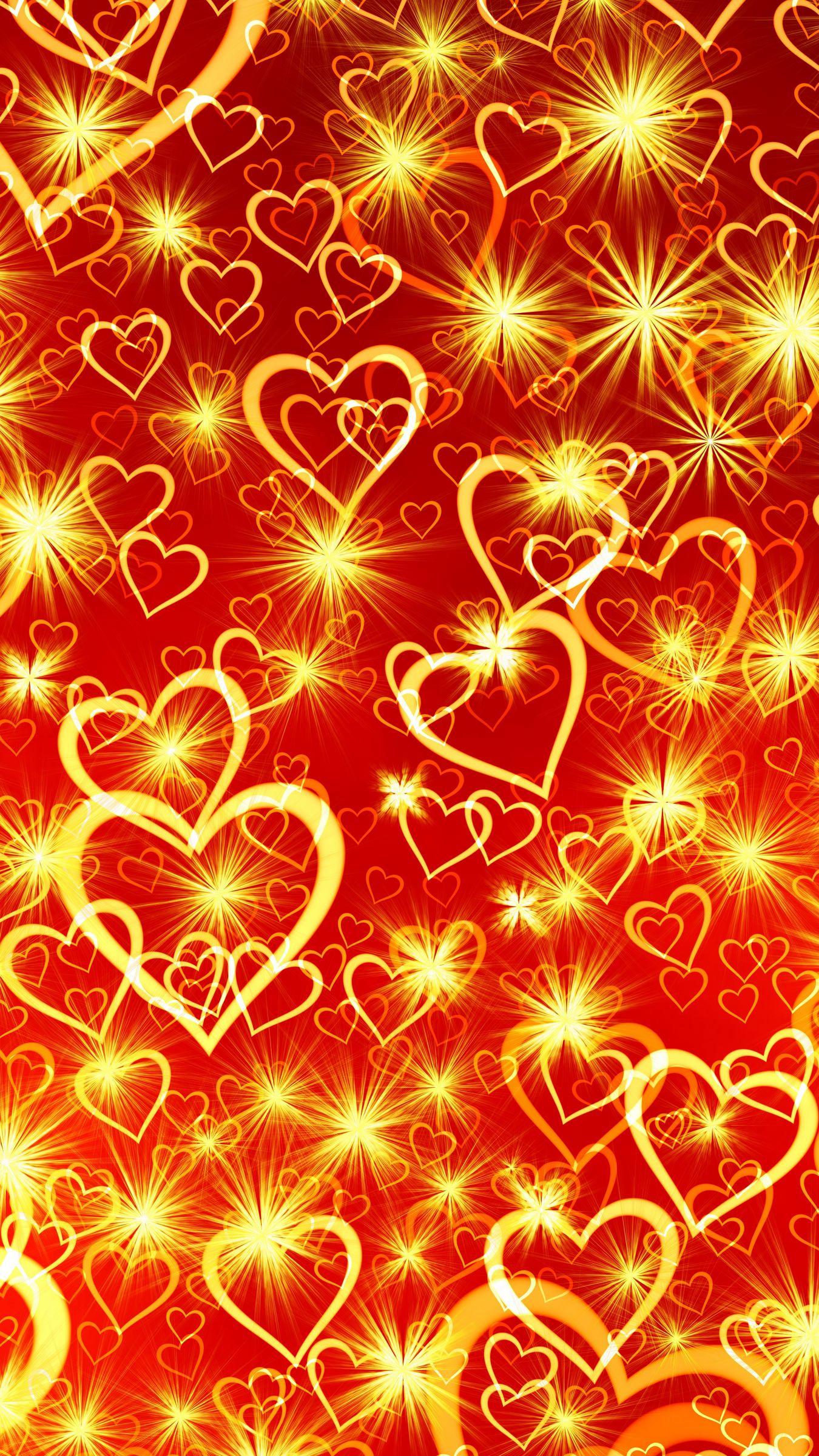 1350x2400 Wallpaper heart, art, shine