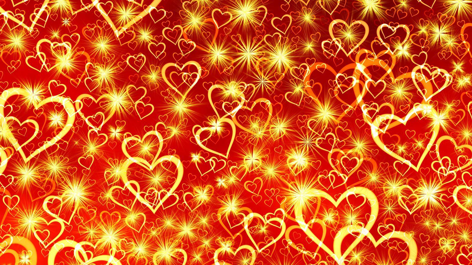 1600x900 Wallpaper heart, art, shine
