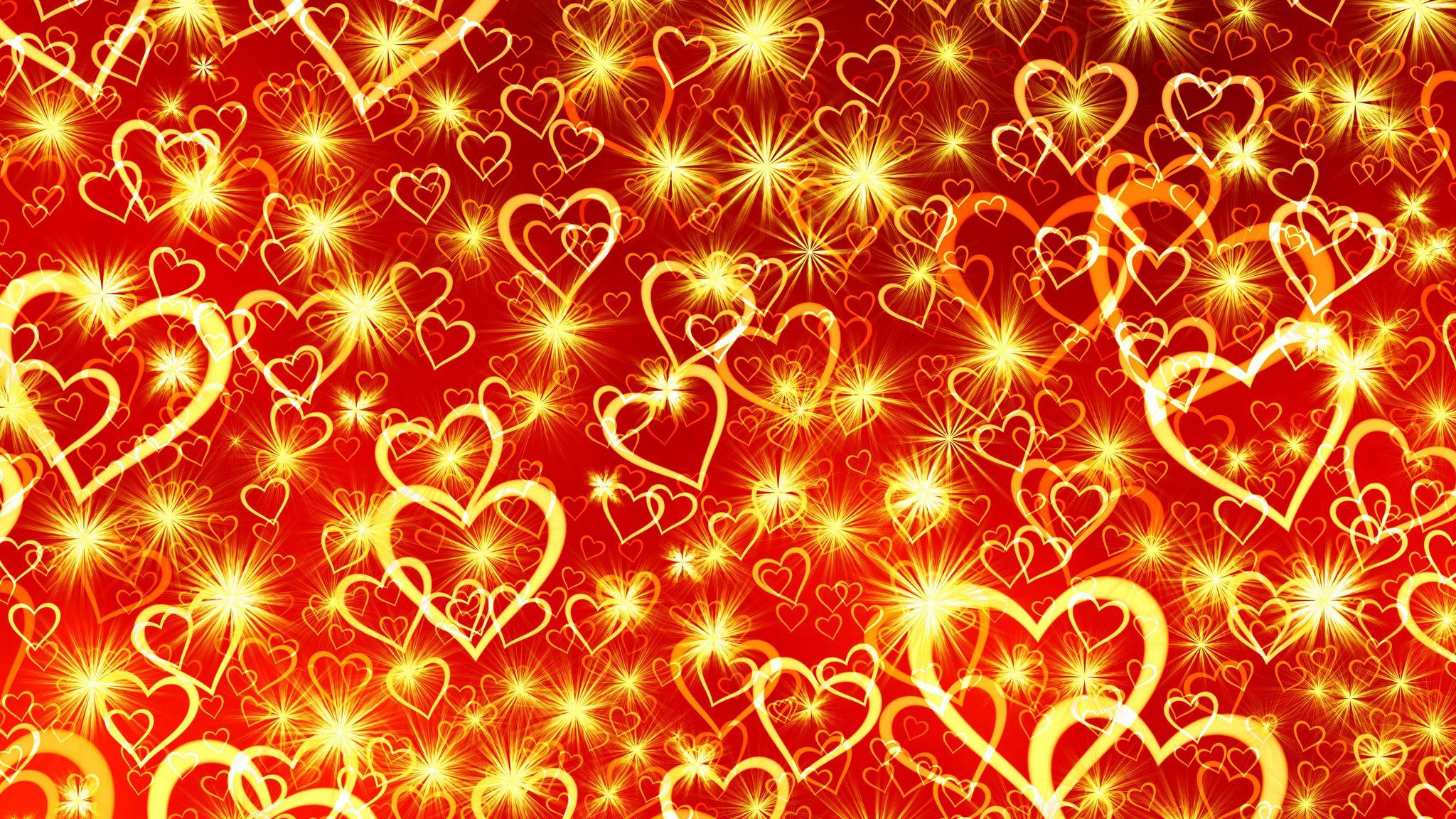 2048x1152 Wallpaper heart, art, shine