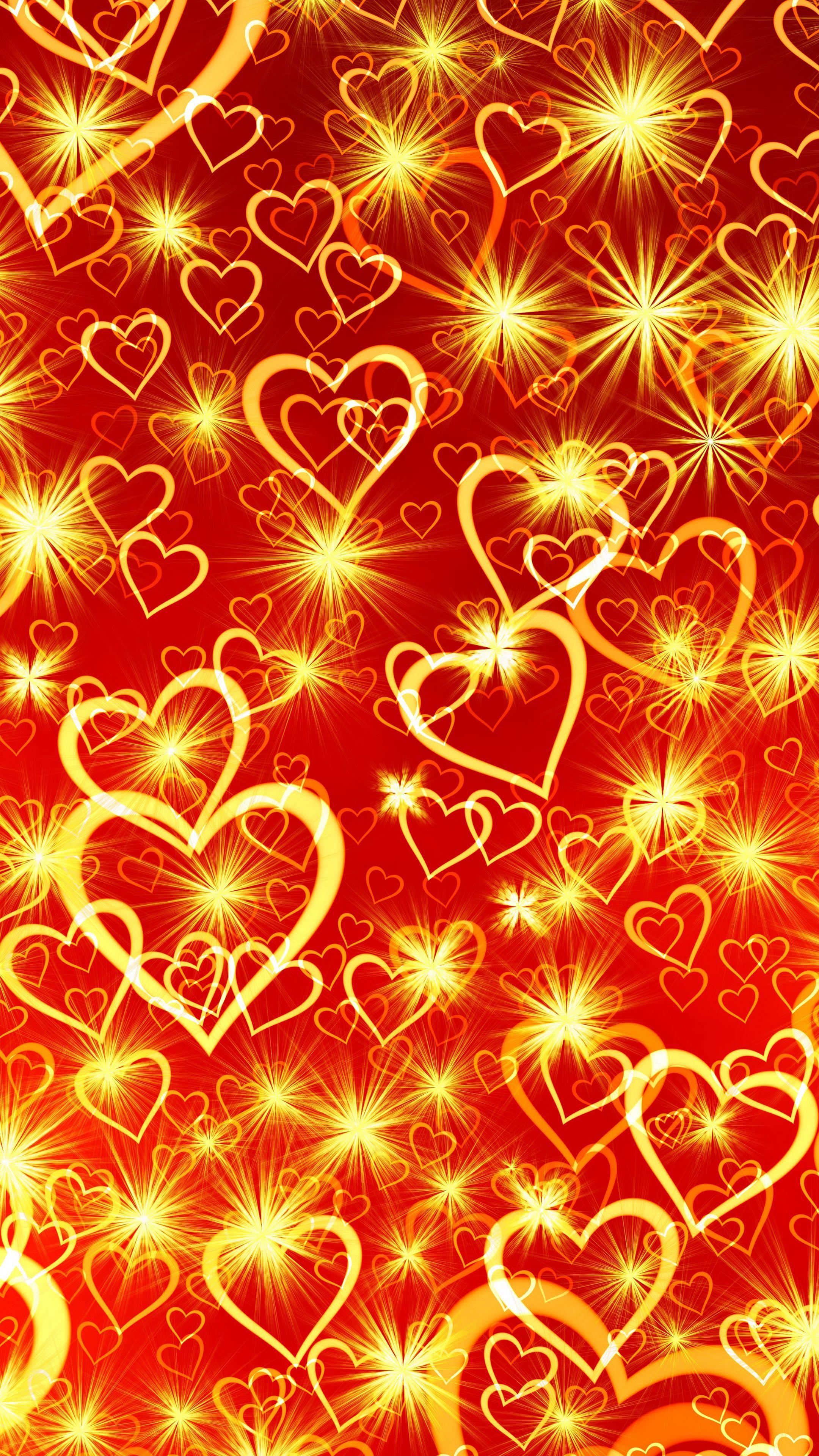 2160x3840 Wallpaper heart, art, shine