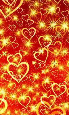 240x400 Wallpaper heart, art, shine